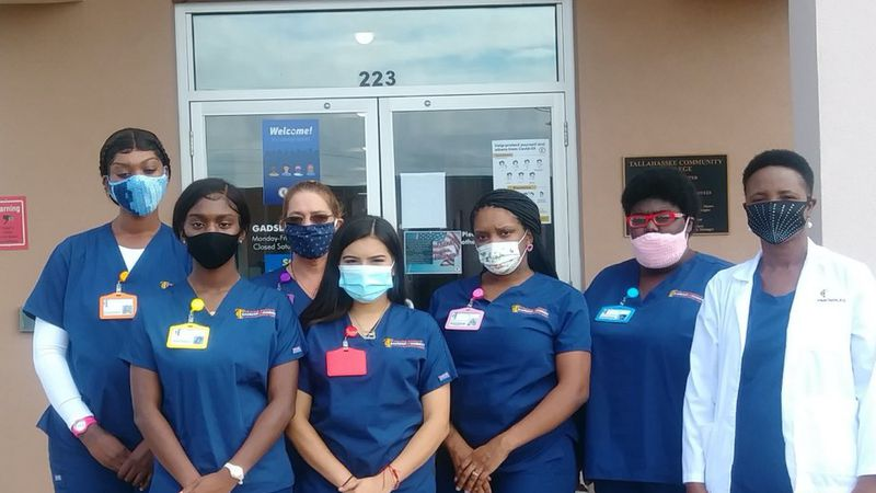 • Pictured (L-R) Back Row: Deondra Alls, Melissa Norris Front Row: Lavondar Chandler, Elsy...