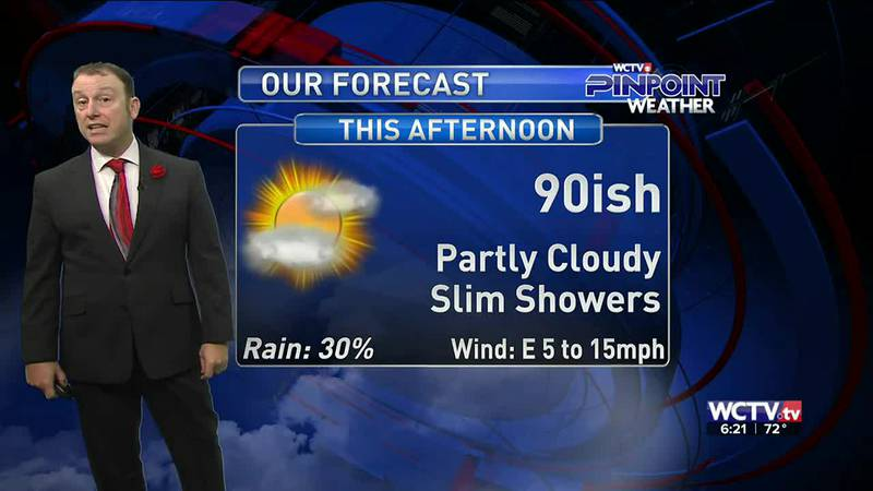 Meteorologist Rob Nucatola gives you the forecast for Monday, Sept. 13, 2021.