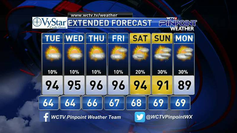 Chief Meteorologist Mike McCall takes a look at your forecast for the evening of Monday, May 24.