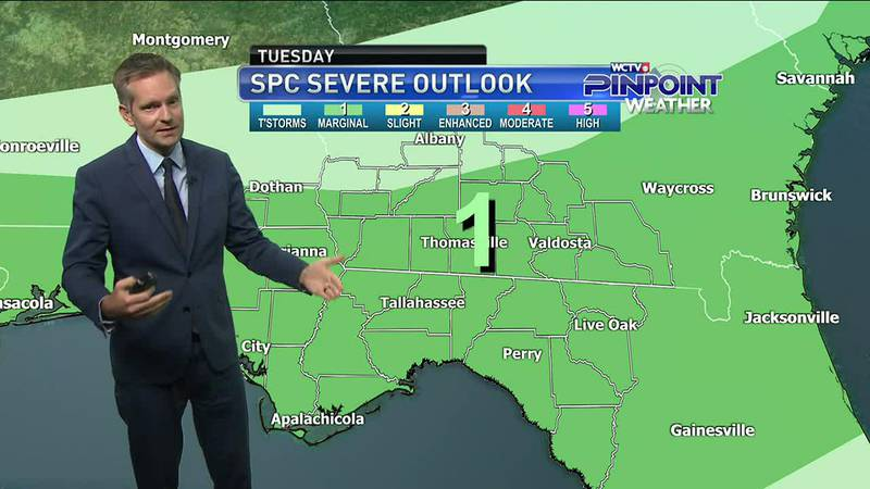 Rain chances bounce back as a cold front and trough approach the area. Meteorologist Charles...