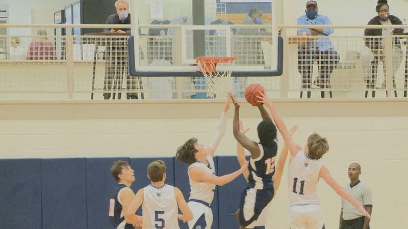 The Brookwood Warriors boys basketball team defeated the Valwood Valiants, 59-54, Tuesday night...