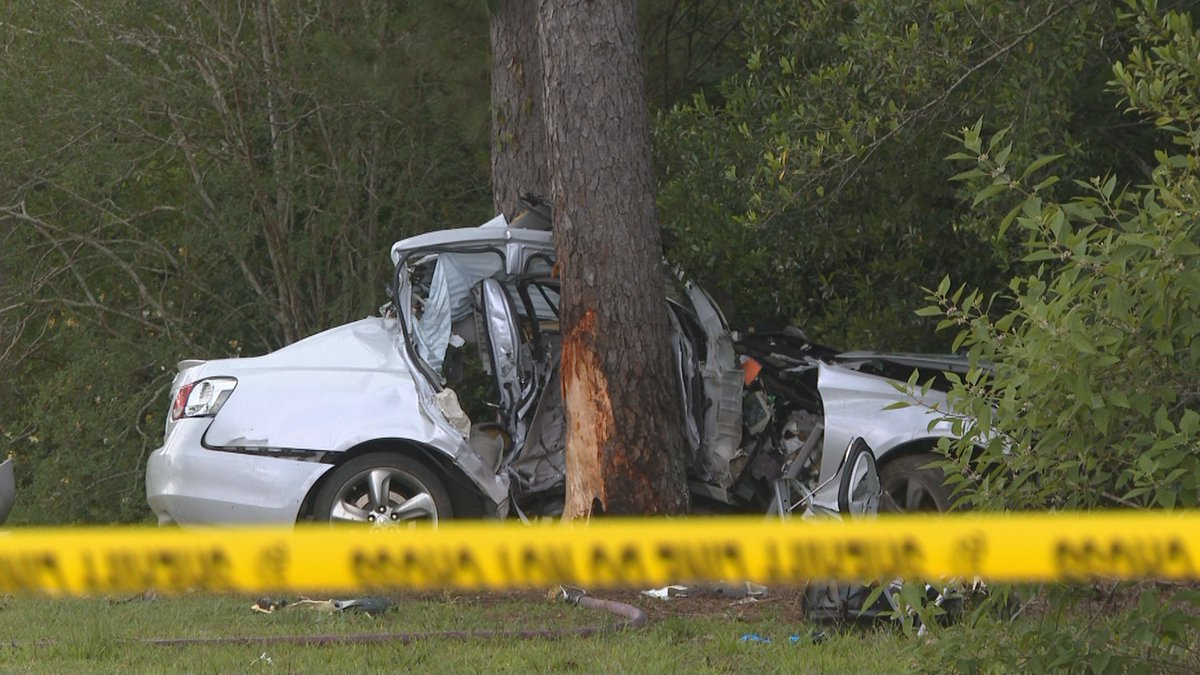 The driver lost control of the car, and the car went onto the westbound shoulder. FHP says...