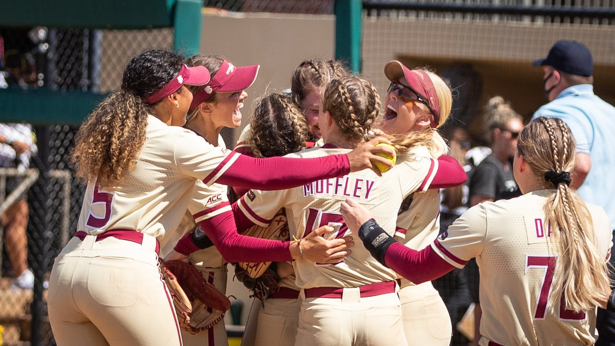 Florida State softball after winning the 2021 Tallahassee Regional over UCF.