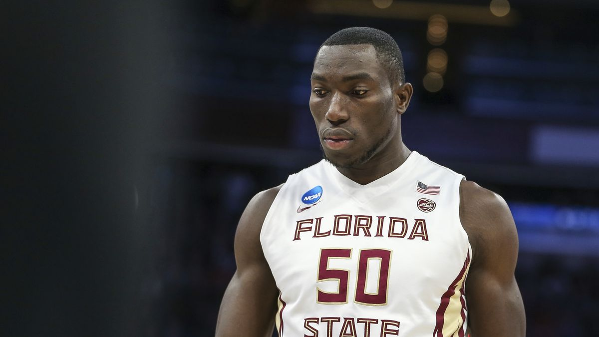 Florida State center Michael Ojo (50)during the first half of the first round of the NCAA college basketball tournament against Florida Gulf Coast, Thursday, March 16, 2017 in Orlando, Fla. (AP Photo/Gary McCullough)