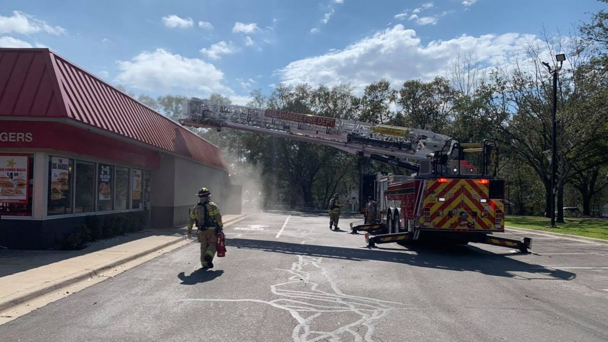 The Tallahassee Fire Department says they are on the scene of a fire at Hardee's in the 5800...