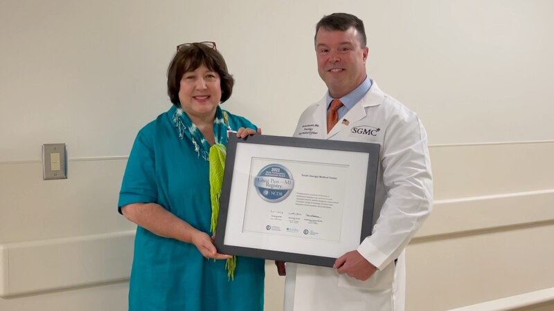 SGMC Award for patient care at Dasher Heart Center.