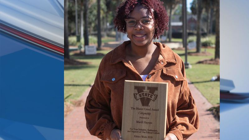 "One Valdosta State University student was recognized as a winner for the university's ""Blazer..."